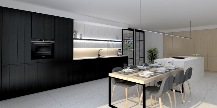 zwarte keuken abdij